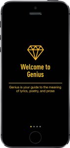 rap genius new app launch