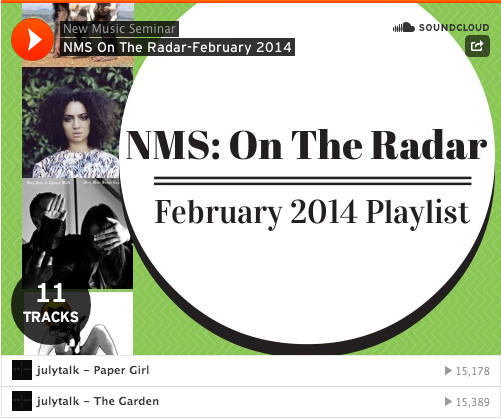 On the radar feb playlist