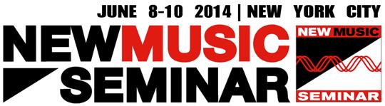 New Music Seminar 2014 Logo; June 8 - June 10, 2014; Music business conference