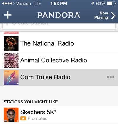 pandora promoted stations sketchers